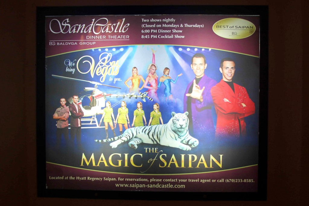 Advertisement for The Magic of Saipan.